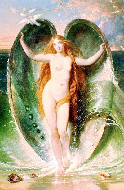 Mighty Aphrodite Rising Out Of The Sea Foam by Henry Courtney Selous